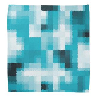 Lenço Teste padrão abstrato moderno branco do preto azul
