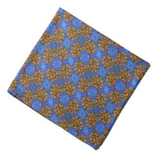 Lenço Teste padrão alaranjado azul brilhante dos