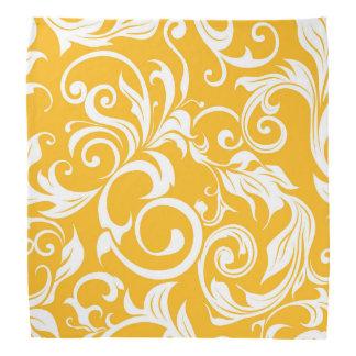 Lenço Teste padrão alaranjado do papel de parede floral