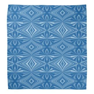Lenço Teste padrão azul à moda na moda