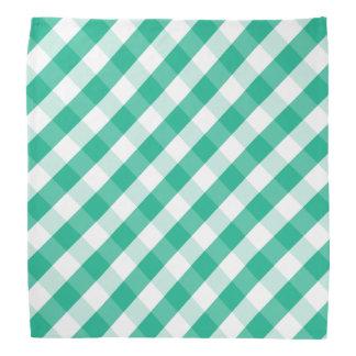 Lenço Teste padrão branco verde simples do guingão de St