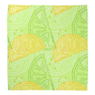 Lenço Teste padrão brilhante dos limões do citrino do