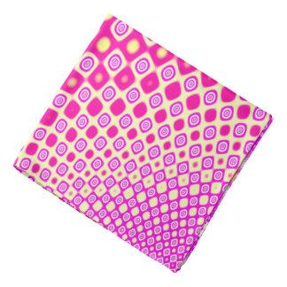 Lenço Teste padrão cor-de-rosa e branco abstrato