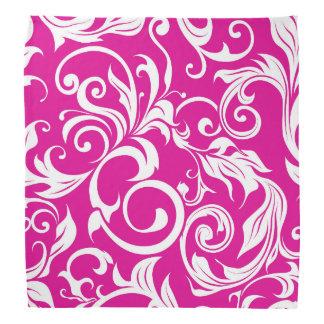 Lenço Teste padrão cor-de-rosa fúcsia brilhante do papel