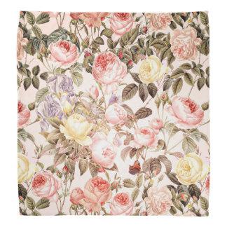Lenço Teste padrão de flor cor-de-rosa do vintage