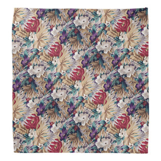 Lenço Teste padrão de flor tropical retro