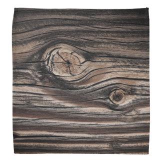 Lenço Teste padrão de madeira da grão