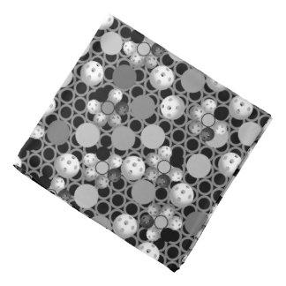 Lenço Teste padrão de Pickleball, preto e branco