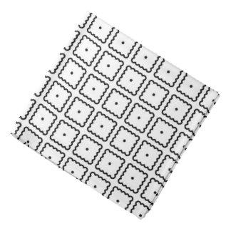 Lenço Teste padrão de ponto quadrado preto e branco