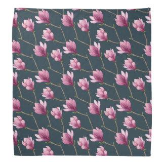 Lenço Teste padrão floral da aguarela da magnólia