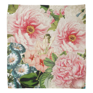 Lenço Teste padrão floral do primavera retro da flor da