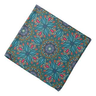 Lenço Teste padrão floral étnico abstrato colorido da