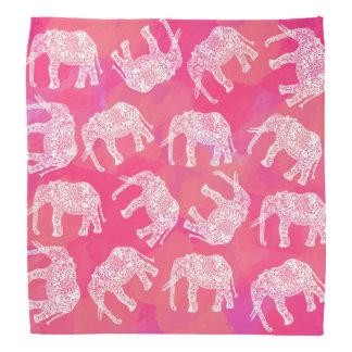 Lenço teste padrão floral tribal colorido cor-de-rosa