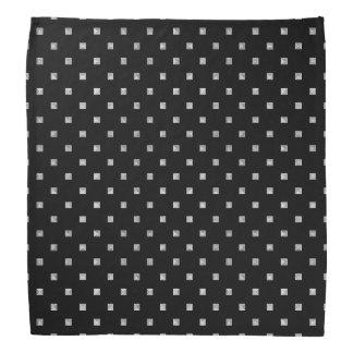Lenço Teste padrão geométrico pequeno preto e branco