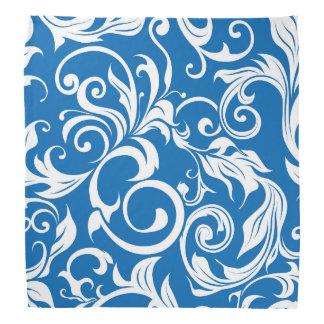 Lenço Teste padrão náutico do papel de parede floral dos