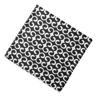 Lenço Teste padrão preto e branco original