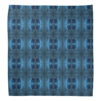 Lenço Teste padrão retro quadrado claro e azul escuro
