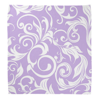 Lenço Teste padrão roxo do papel de parede floral da
