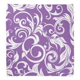 Lenço Teste padrão roxo violeta bonito do papel de