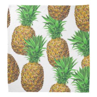 Lenço Teste padrão sem emenda com abacaxis