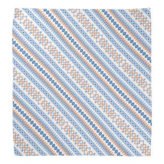 Lenço Teste padrão tribal asteca alaranjado azul bonito