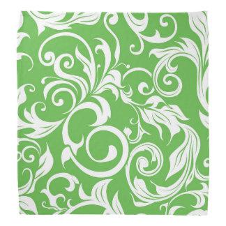 Lenço Teste padrão verde brilhante do papel de parede
