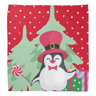 Lenço Um pinguim festivo - 1