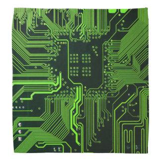 Lenço Verde legal do computador de conselho do circuito