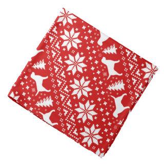 Lenço Vermelho do teste padrão do Natal das silhuetas de