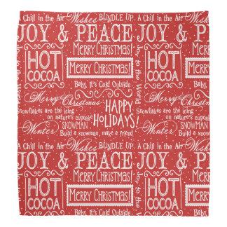 Lenço Vermelho e branco do verso do Natal