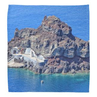 Lenço Vista panorâmica de Santorini