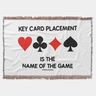 Lençol A colocação do cartão chave é o nome de The Game