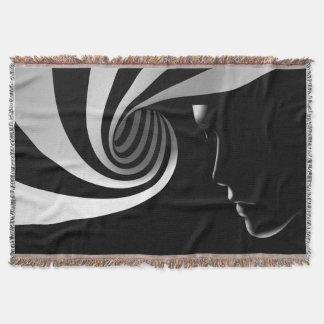 Lençol Abstrato preto