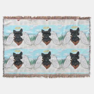 Lençol Anjo preto de Terrier do Scottish