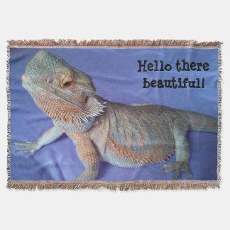 Lençol Azul farpado bonito da imagem do dragão