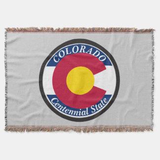 Lençol Bandeira da circular de Colorado