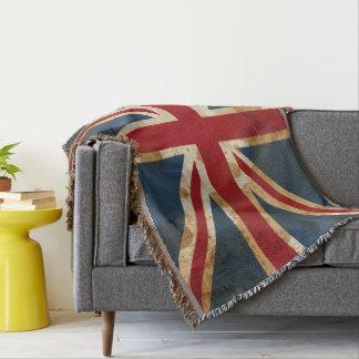 Lençol Bandeira manchada de Union Jack Reino Unido do