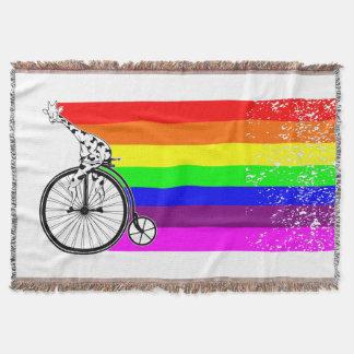 Lençol Bicicleta do arco-íris do girafa