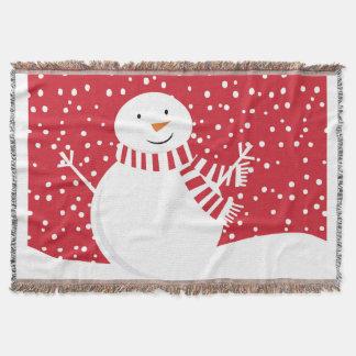 Lençol boneco de neve contemporâneo moderno do inverno