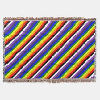 Lençol Branco para enegrecer o arco-íris de espaços de