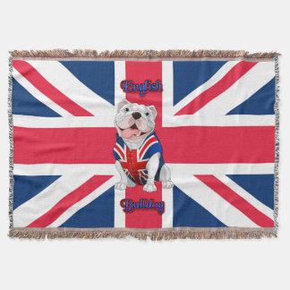 Lençol Buldogue do inglês de Union Jack