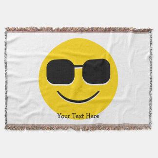 Lençol Cara legal de Emoji dos óculos de sol