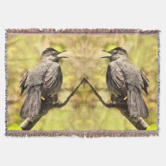 Lençol Catbirds cinzentos do canto cobertura do lance
