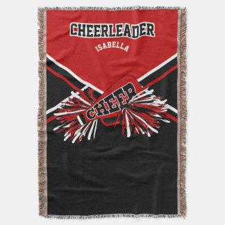 Lençol Cheerleader - vermelho, branco e preto