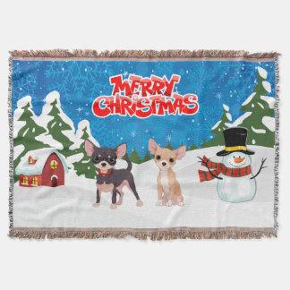 Lençol Chihuahuas do Feliz Natal