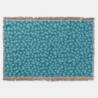 Lençol Cobertura azul do lance das bolinhas