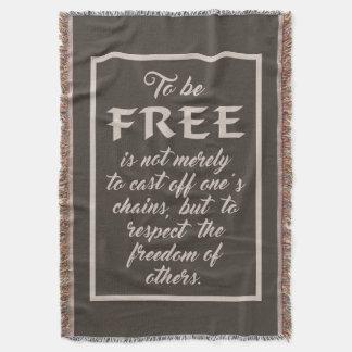 Lençol Cobertura do lance das citações da liberdade