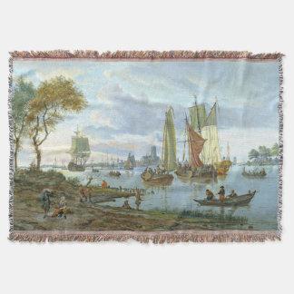 Lençol Cobertura do lance dos barcos de rio dos veleiros