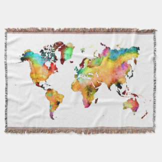 Lençol cobertura do mapa do mundo
