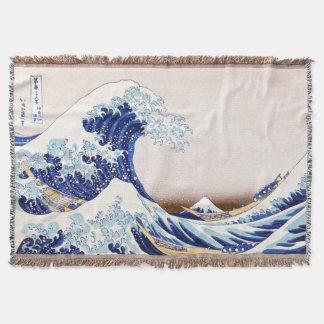 Lençol Cobertura japonesa do lance das ondas